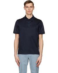 Brioni ネイビー ロゴ ポロシャツ - ブルー