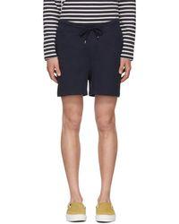 A.P.C. - Navy Havana Shorts - Lyst