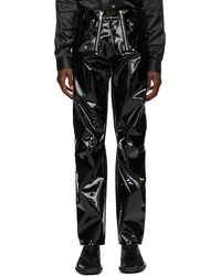 GmbH Pantalon Thor noir en vinyle