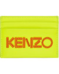KENZO - Porte-cartes a logo jaune - Lyst