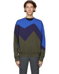 Neil Barrett ブラック & カーキ Modernist スウェットシャツ - ブルー