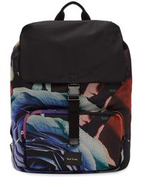 Paul Smith - Multicolor Collage Rose Backpack - Lyst