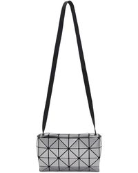 Bao Bao Issey Miyake Silver Carton Messenger Bag - Metallic