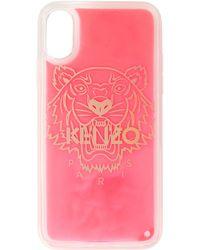 KENZO レッド グリッター Tiger Iphone Xs Max ケース - ピンク