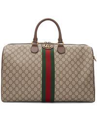 Gucci Beige Medium Ophidia Duffle Bag - Natural