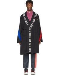 REEBOK X PYER MOSS Black Collection 3 Wrap Coat