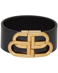 Balenciaga Bb Buckled Leather Belt - Black
