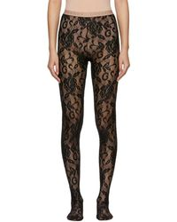 Gucci Black Lace Tights