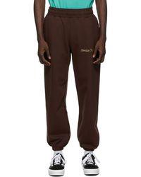 AWAKE NY Pantalon de survêtement brun Classic Outline Logo - Marron