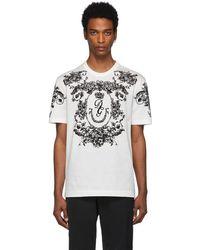 Dolce & Gabbana ホワイト ロゴ フロック T シャツ