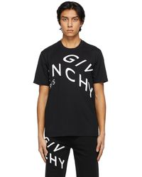 Givenchy - ブラック Embroidered Refracted ロゴ T シャツ - Lyst