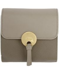 Chloé - Grey Square Indy Wallet - Lyst
