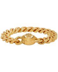Lyst - Bracelet Medusa Versace pour homme en coloris Noir eea61941550