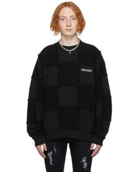 Marcelo Burlon ブラック チェッカーボード スウェットシャツ