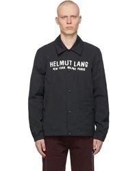Helmut Lang - ブラック Stadium ジャケット - Lyst
