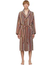 Paul Smith Signature Stripe Towelling Dressing Gown - Multicolour