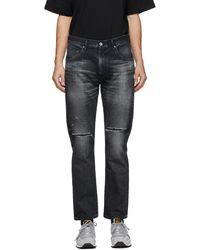 Neighborhood Black Washed C-pt Skinny Jeans