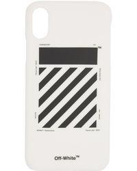 Off-White c/o Virgil Abloh - White Diag Iphone X Case - Lyst