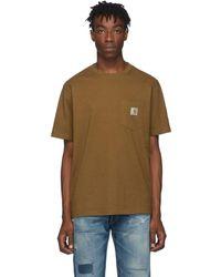 Carhartt WIP - ブラウン ポケット T シャツ - Lyst