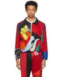 BETHANY WILLIAMS Multicolour The Magpie Project Edition Tracksuit Jacket - Red