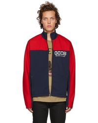 Golden Goose Deluxe Brand - Blue And Red Zip-up Jacket - Lyst