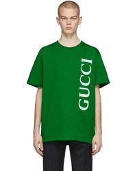 Gucci - グリーン オーバーサイズ T シャツ - Lyst