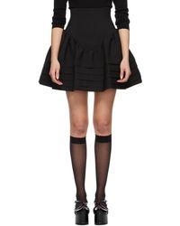 ShuShu/Tong ブラック High Waist Ruffle スカート