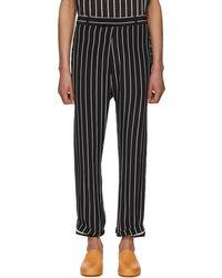 Haider Ackermann | Black And White Silk Anatase Classic Trousers | Lyst