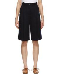 Loewe Virgin Wool Shorts - Blue