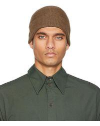 Lemaire Bonnet brun tricoté en laine - Vert