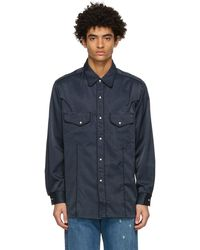 Nicholas Daley Navy Western Shirt - Blue