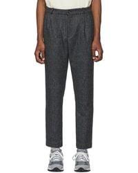 Aimé Leon Dore Gray Wool Tweed Pants - Multicolor