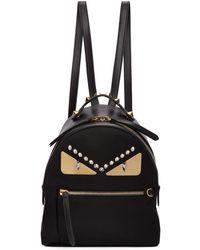 Fendi - Black Mini Bag Bugs Zaino Backpack - Lyst