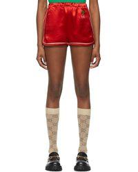 Gucci Satin GG Cherry Shorts - Red