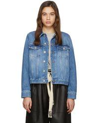 Loewe Blue Denim Adjustable Jacket