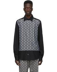 GmbH Panel Chains Shirt - Black