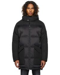 Army by Yves Salomon Down Mixed Fabric Jacket - Black