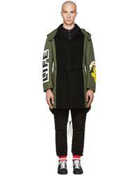 Moschino | Green Patchwork Coat | Lyst