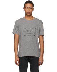 Saint Laurent Gray Im Brutally In Love With You T-shirt
