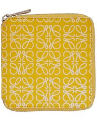 Loewe - Yellow And White Square Zip Wallet - Lyst