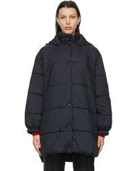 Givenchy ブラック ロゴ パファー コート