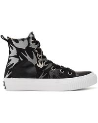 McQ Black And White Swallow Plimsoll High-top Trainers