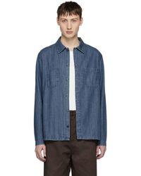 A.P.C. - Blue Denim Disfarmer Shirt - Lyst