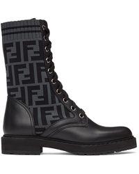 Fendi - ブラック Forever Rockoko ブーツ - Lyst