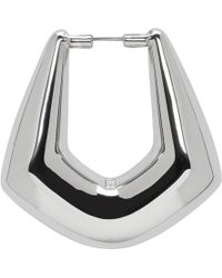 Balenciaga - Silver Right Buckle Earring - Lyst