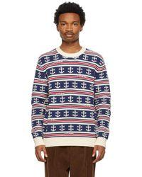 Gucci - ネイビー ストライプ セーター - Lyst