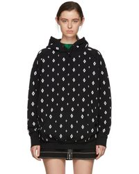 Marcelo Burlon - Black And White Embroidered Cross Hoodie - Lyst