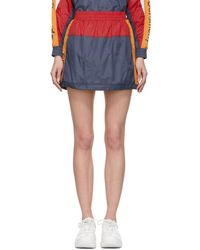 Opening Ceremony - Navy And Red Warm-up Miniskirt - Lyst