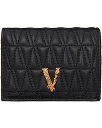 Versace ブラック キルティング Vitrus ウォレット