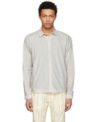 Jan Jan Van Essche - Off-white Cotton Stripe Shirt - Lyst